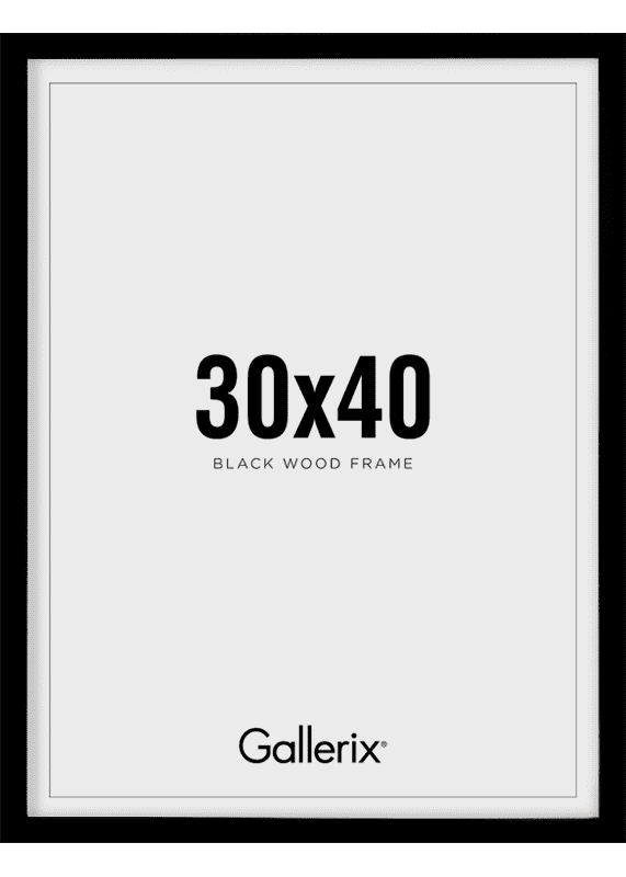 Kuvakehys Mustat Puukehykset 30x40-0