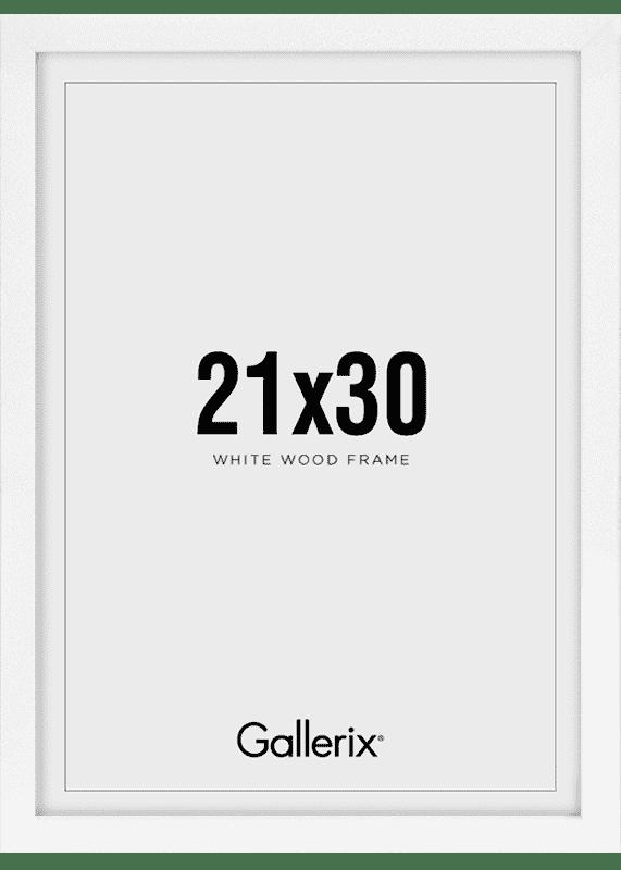 Kuvakehys Valkoiset Puukehykset 21x30-0