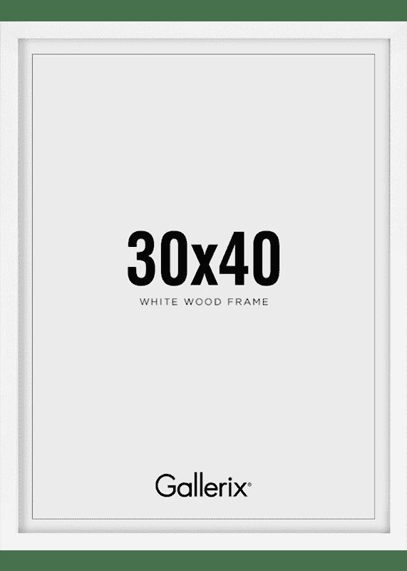 Kuvakehys Valkoiset Puukehykset 30x40-0