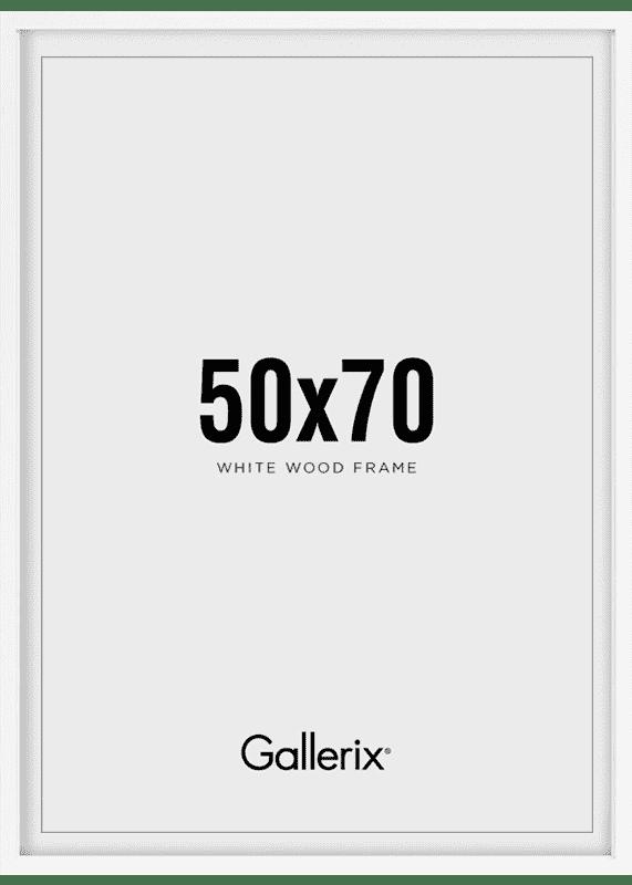 Kuvakehys Valkoiset Puukehykset 50x70-0