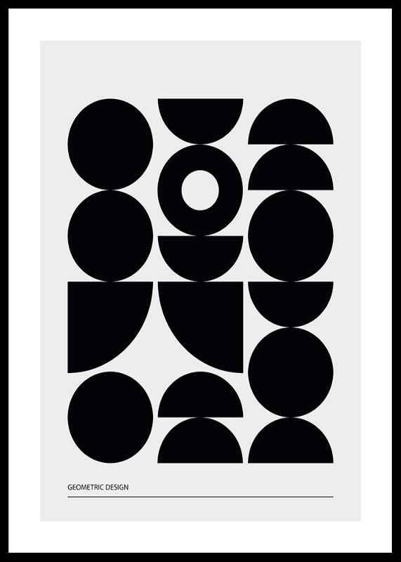 Geometric Graphic Black No1-0