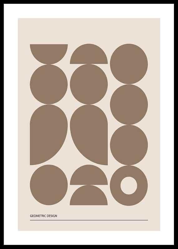 Geometric Graphic Beige No1-0