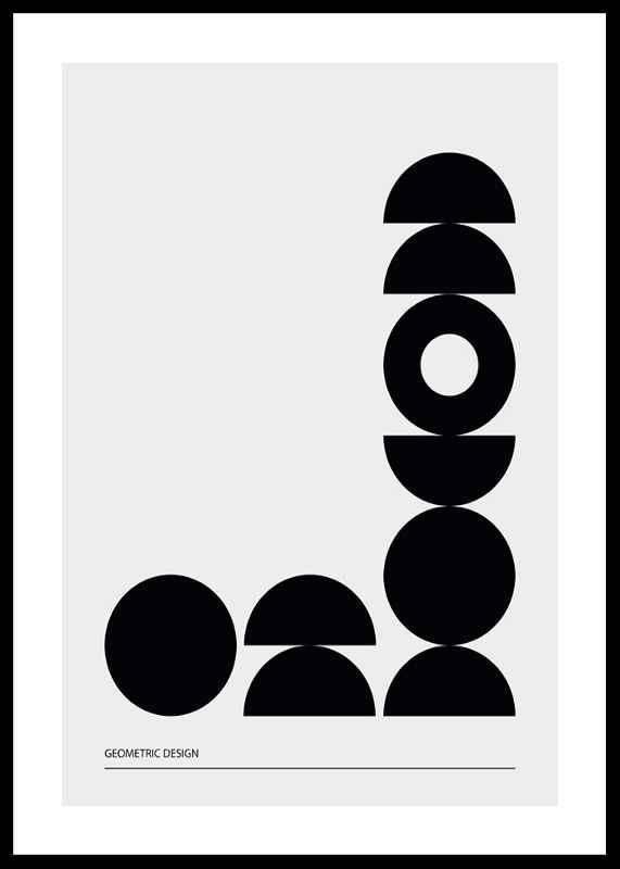 Geometric Graphic Black No2