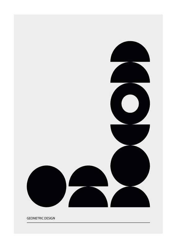 Geometric Graphic Black No2-1