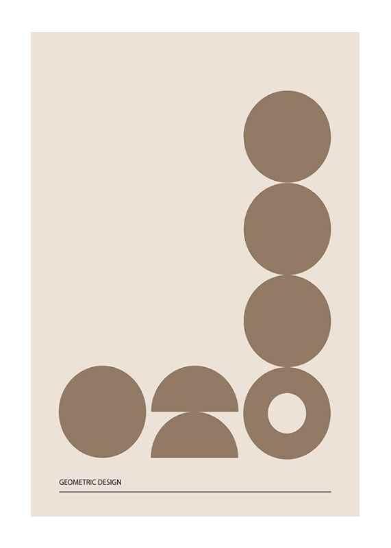 Geometric Graphic Beige No2-1