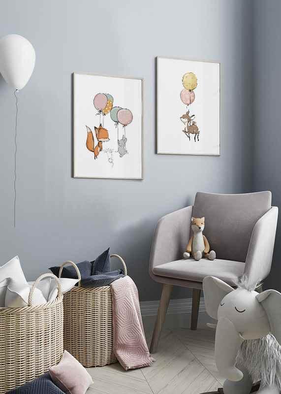 Animals And Balloons No1-2