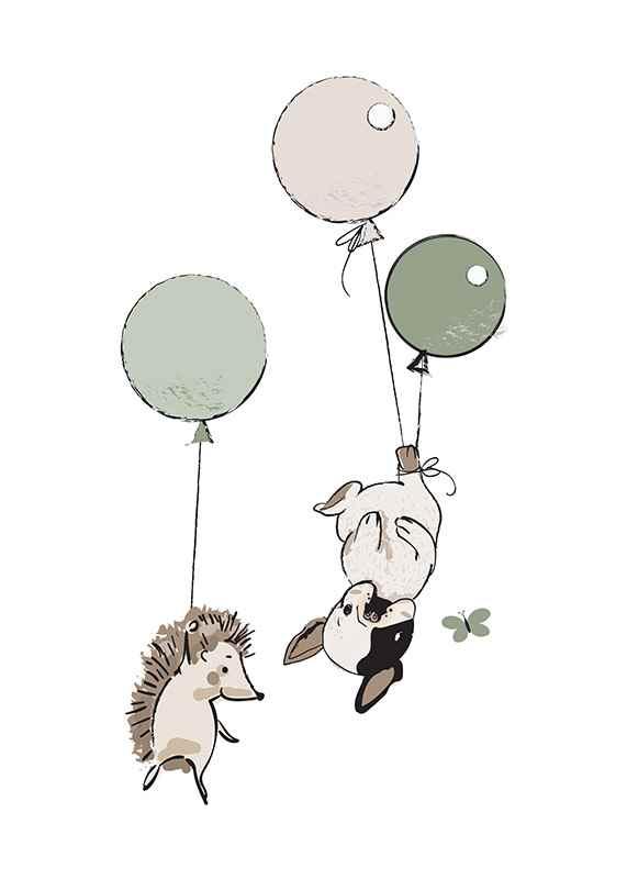 Animals And Balloons No2-1
