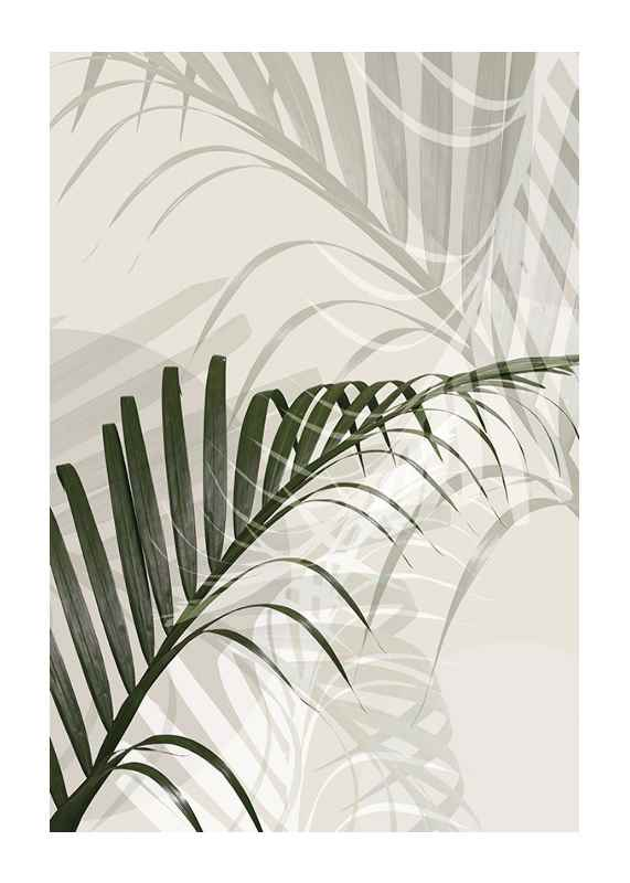 Abstract Palm Leaves No2-1