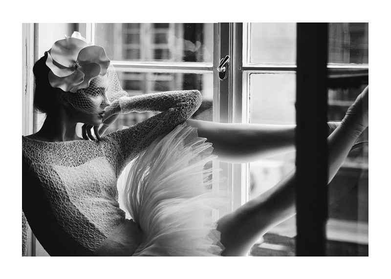 Woman In Window BW-1