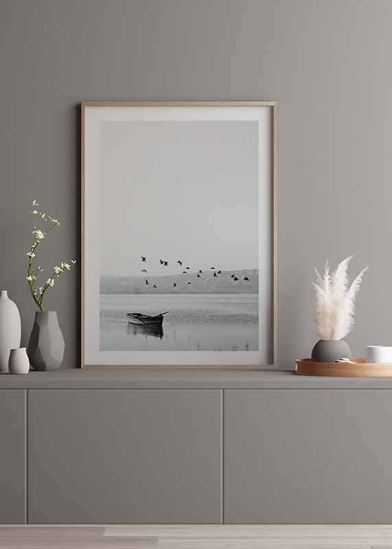 Birds over lake-4