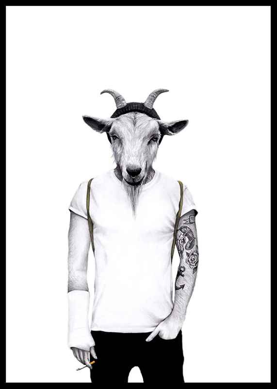 Hipster goat-0