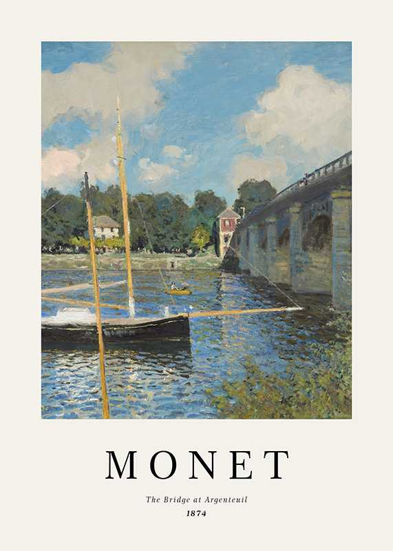 Monet Bridge At Argenteuil-1