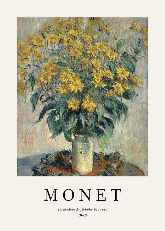 Monet Jerusalem Artichoke Flowers-1