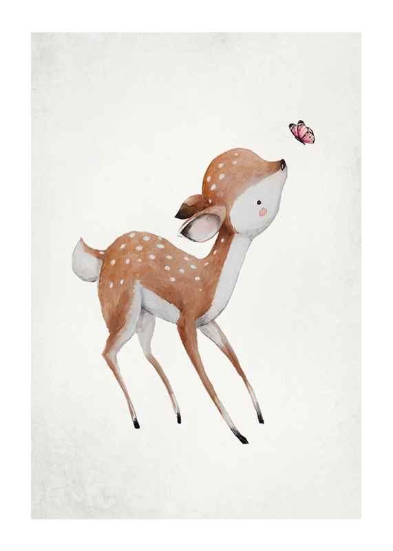 Watercolor Deer-1