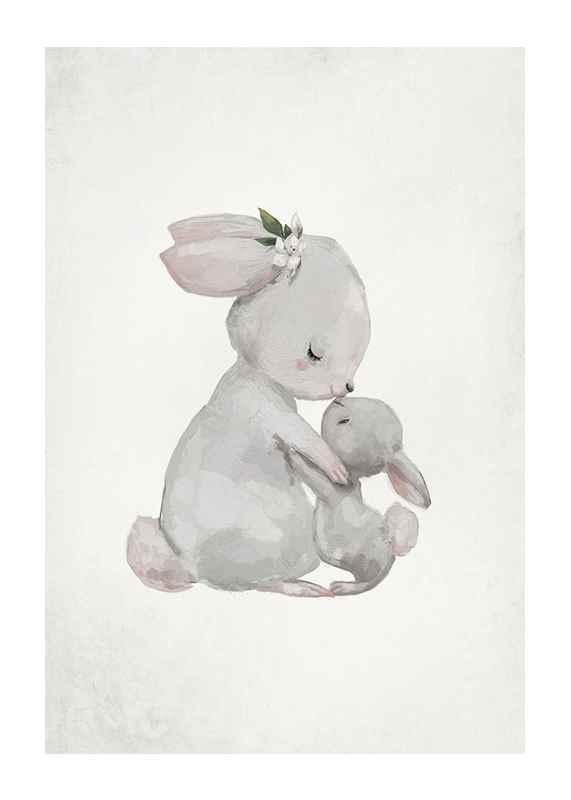 Watercolor Rabbits-1