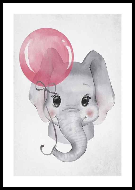 Elephant Pink Balloon