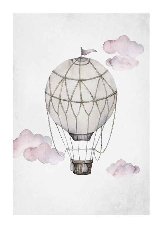 Watercolor Hot Air Balloon-1