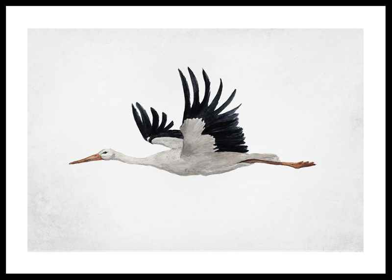 Watercolor Stork