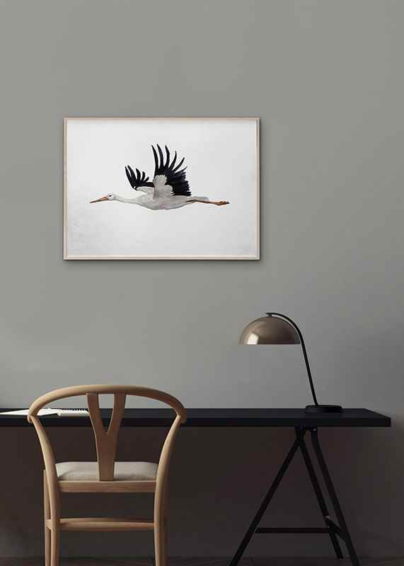 Watercolor Stork-4