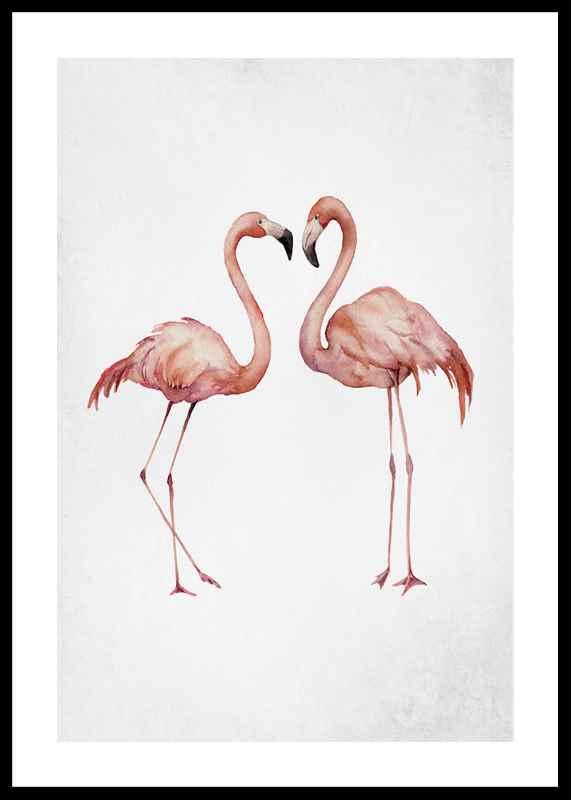 Watercolor Flamingos-0