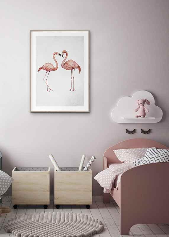 Watercolor Flamingos-4
