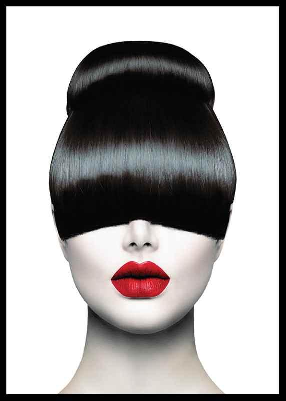 Red Lips Hair Cut-0