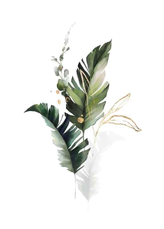 Watercolor Botanical No1-1