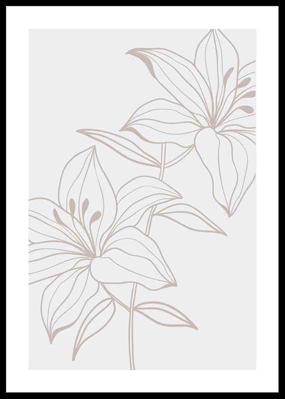 Line Art Flower No1-0