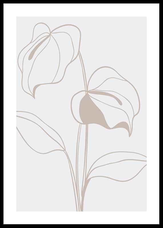 Line Art Flower No2
