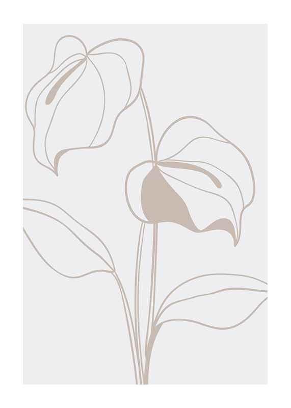 Line Art Flower No2-1