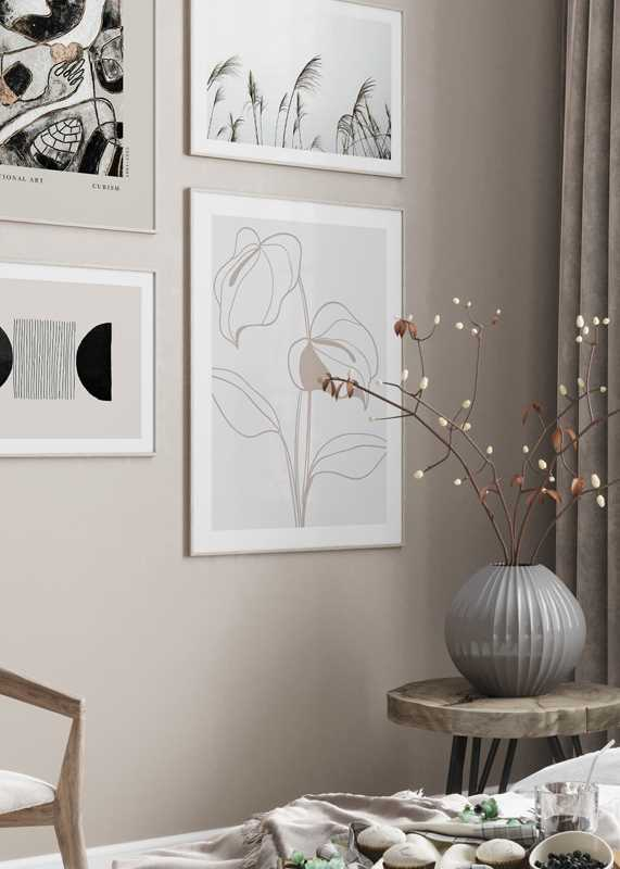 Line Art Flower No2-4