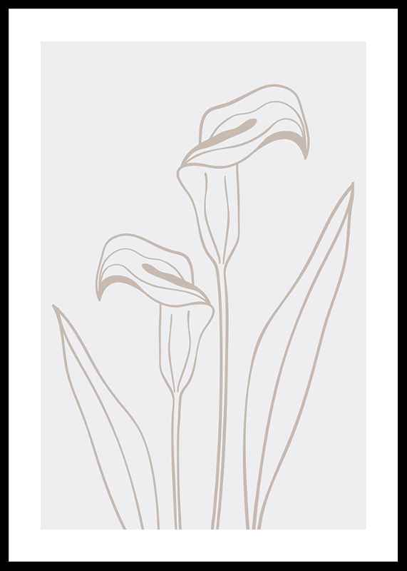 Line Art Flower No3-0