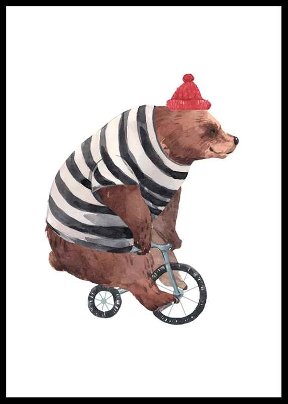 Bear On Bike-0