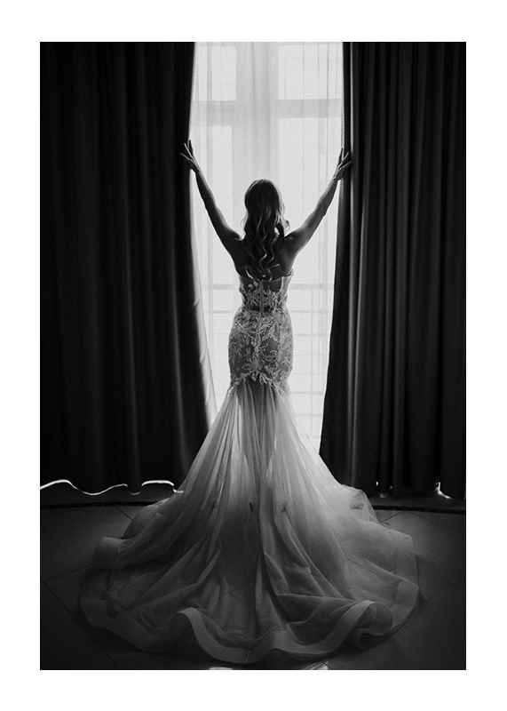 Woman Opening Curtains-1