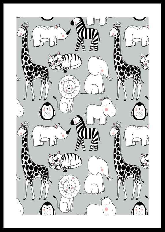 Wild Animals B&W