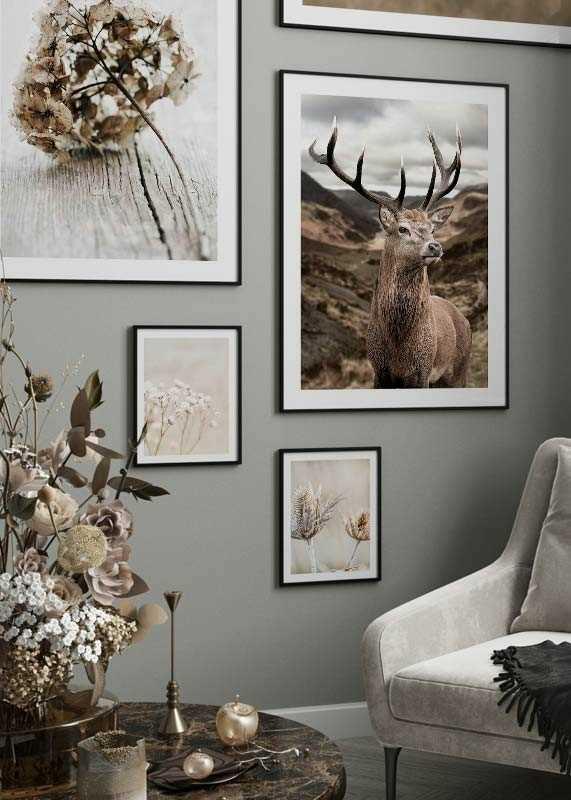 Deer In Mountain Landscape-4