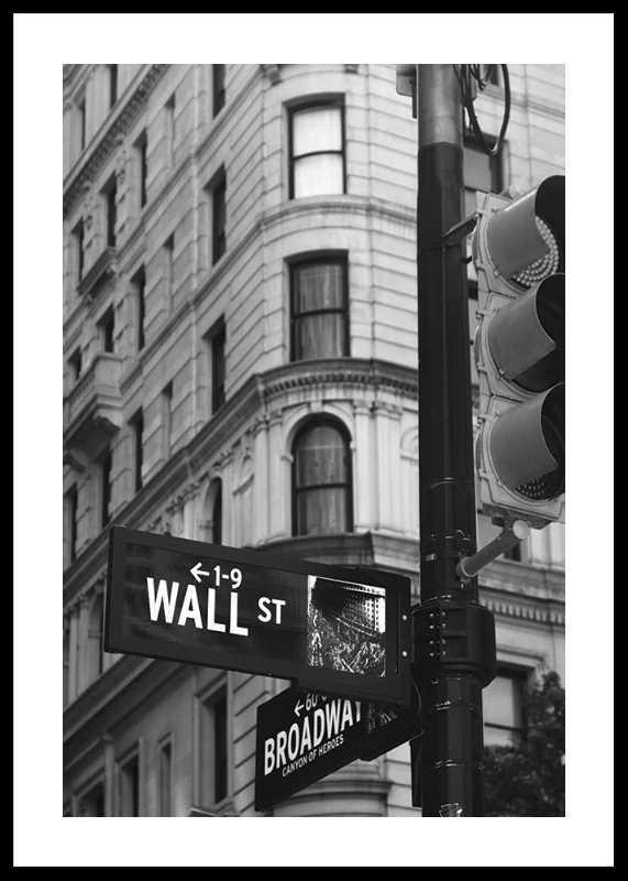 Wall Street Sign-0