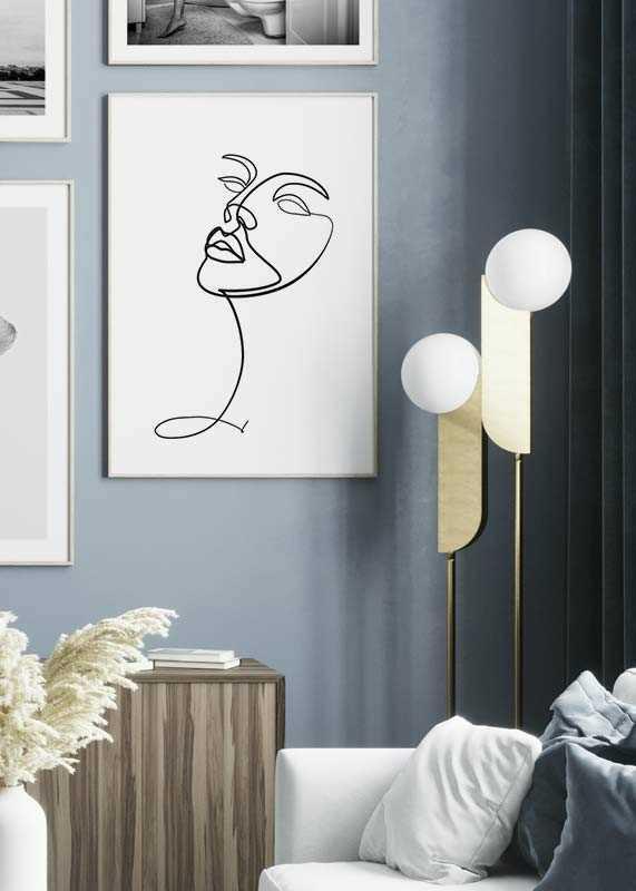 Line Art Face-2
