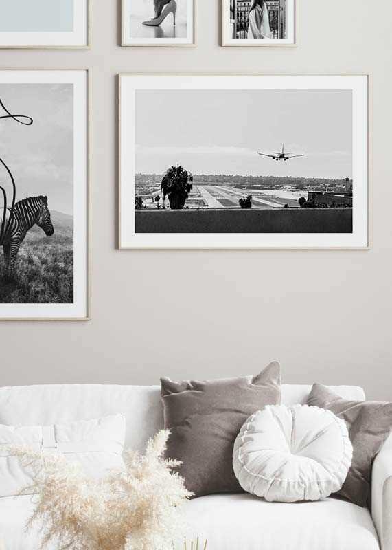Airplane Over Runway-4
