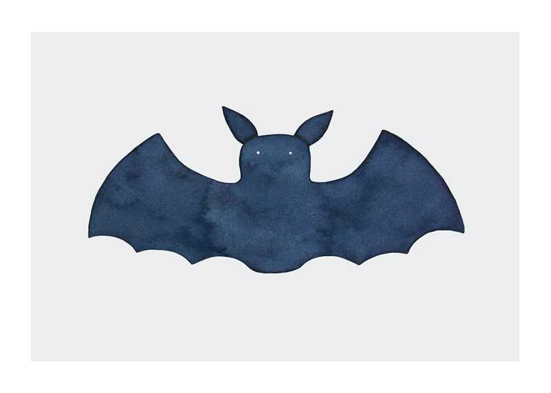 Watercolor Bat-1