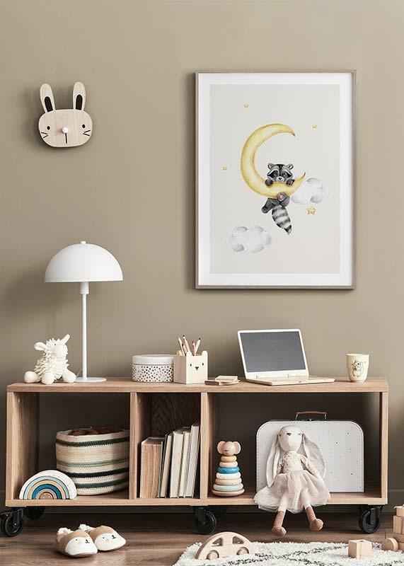 Raccoon And Moon-4