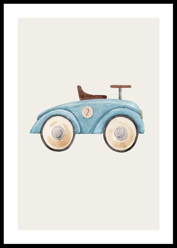 Blue Toy Car-0