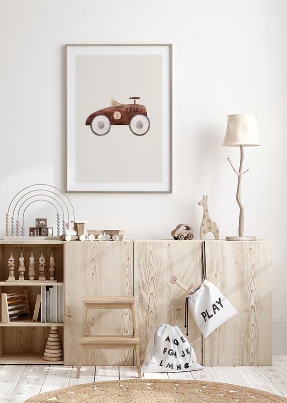Brown Toy Car-4