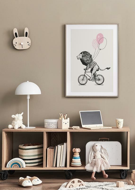 Lion On Bicycle-4